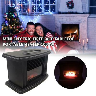 $31.29 • Buy Portable Mini Electric Fireplace Heater Tabletop Indoor Space Heater 1000W