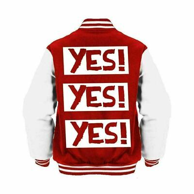 WWE Daniel Bryan Yes! Yes! Yes! Logo Official Varsity Jacket (Red) • 49.99£