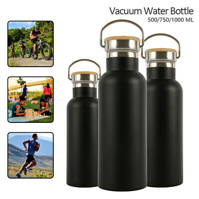 AU20.99 • Buy 1L Stainless Steel Vacuum Insulated Water Bottle Water Drink Flask Thermos NEW~