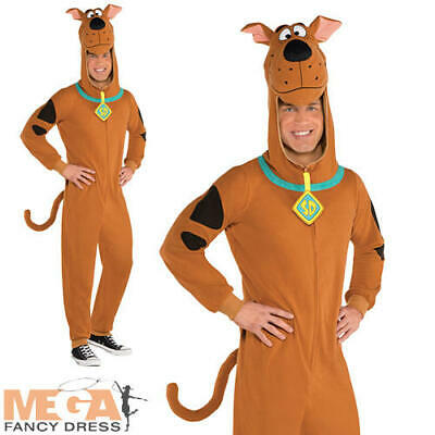 Scooby Doo Mens Fancy Dress Cartoon Character Dog Animal Adult Halloween Costume • 29.99£