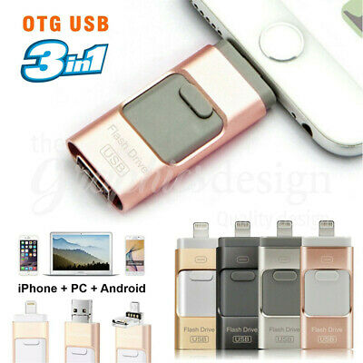 AU20.59 • Buy 256GB I Flash Drive USB Memory Stick HD U Disk 3 In 1 For Android IOS IPhone PC2