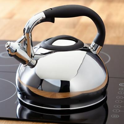 Stove Top Whistling Kettle Induction Large 3L Stainless Steel Electric Gas Judge • 29.99£