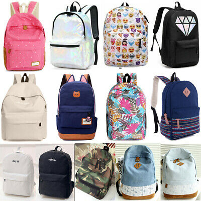 $13.99 • Buy Womens Girls Backpack Casual Bags School Book Shoulder Bag Travel Rucksack Bag