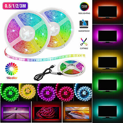 $13.97 • Buy USB 5V LED Strip Light TV Backlight 5050 RGB Tape Light Color Changing Light Kit