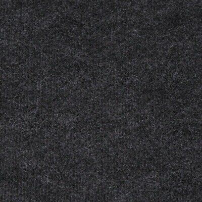 £23.92 • Buy Anthracite Black Budget Cord Carpet, Cheap Thin Temporary Flooring, Exhibition