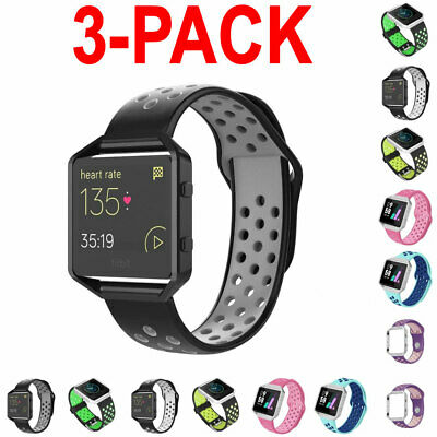 $ CDN24.24 • Buy 3X For Fitbit Blaze Silicone Replacement WristBand Sport Wrist Strap Watch Band