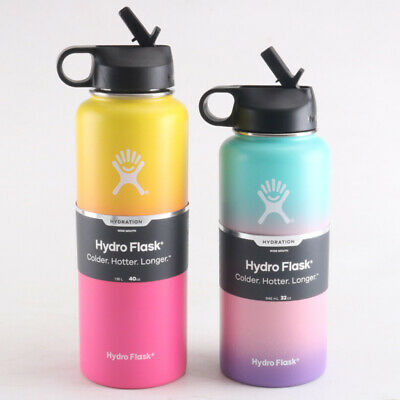 $34.99 • Buy 32oz/40oz Hydro Flask Gradient Multi Color Splash - Ombre & Pink - Cap Or Straw