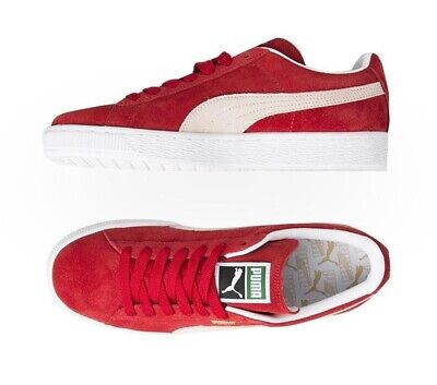 AU55 • Buy Puma Mens Cabernet Red White Suede Leather Classic+ Trainers Sneakers Shoes