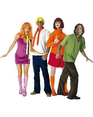 Adult Licensed SCOOBY DOO And Gang Characters Fancy Dress Costume TV Outfits • 25£
