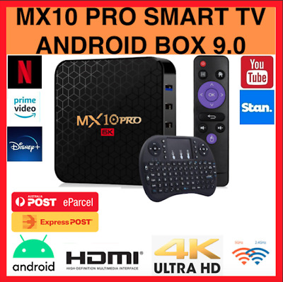 AU99.99 • Buy 2020 Updated Version MX10 PRO HD WIFI 4K Quad Core Android Smart TV Box 4GB+64GB