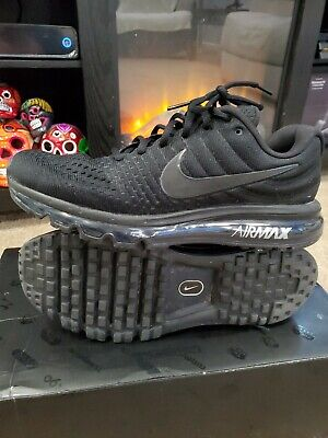 $110 • Buy 🔥👀Nike Air Max 2017 Triple Black Men's Running Shoes Size 9.5 New 849559-004