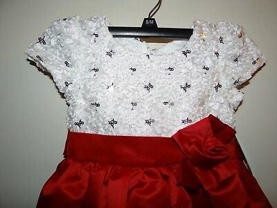 $18 • Buy NWT Sugar Plum Girls Red White Sequins Formal Party Dress Size 5