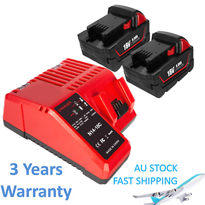 AU40.99 • Buy Battery & Charger For Milwaukee M18 18V Li-ion 48-11-1852 48-59-1812 48-11-1828