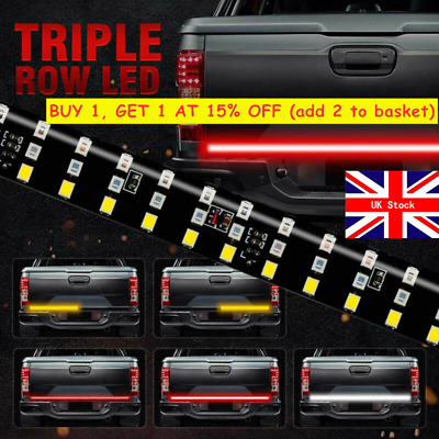 60  Triple Row Truck Tailgate Light Bar LED Strip Reverse Brake Turn Signal Lamp • 12.34£