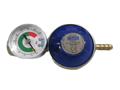 Butane Gas Regulator With Gauge - G8 Nut Calor Gas Screw On 30mbar • 10.99£