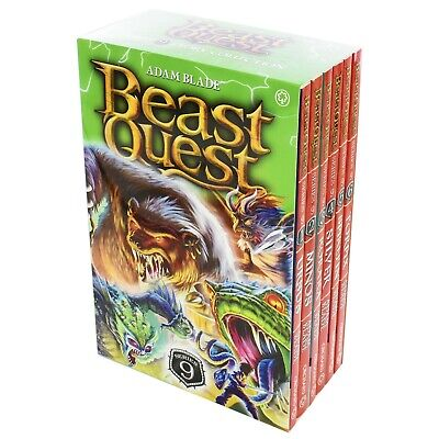 £14 • Buy Beast Quest 6 Books Series 9 Children Collection Paperback Box Set By Adam Blade