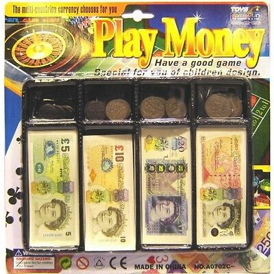 £3.98 • Buy Kids Play Money Toy Till Set Coin Notes Pounds Penny Children Pretend Play Cash