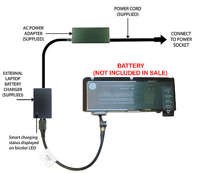 £52.98 • Buy External Laptop Battery Charger For Apple MacBook Pro 13in A1278, A1322, MB990LL
