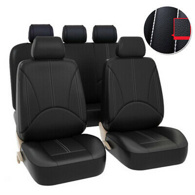 $ CDN40.24 • Buy 9pcs Car Auto Interior Universal Pu Leather Full Seat Replacement Black Covers