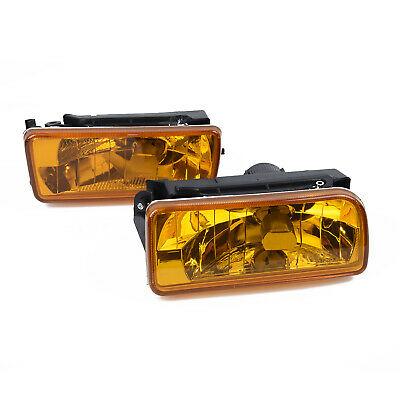 $27.98 • Buy For 1992-1998 BMW E36 M3 Chrome Fog Lights Replacement Lamps Yellow Lens