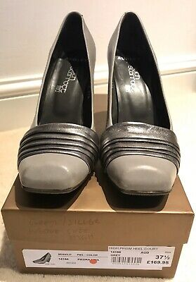 Audley For Keith Scarrott Silver/Grey Wedge Shoes • 18£