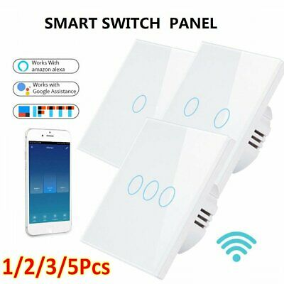 AU21.79 • Buy Smart WIFI Light Touch Panel Switch App Timing Socket Alexa Google Home 1/2/3Pcs