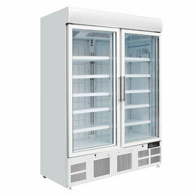 £3043.50 • Buy Polar Upright Display Double Door Freezer 920 Litre White - GH507 Catering