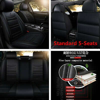 $ CDN125.01 • Buy Standard 5-Seats Car Seat Covers Front+Rear PU Leather For Interior Accessories