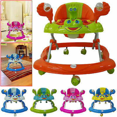 Baby Walker First Steps Push Along Bouncer Activity Music Ride On Toy Car Music • 26.95£