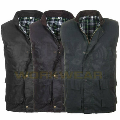 £19.99 • Buy Mens British Made Wax Quilted Gilet Bodywarmer Country Wear Waistcoat Padded