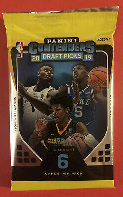 $5.47 • Buy Panini 2019-2020 Contenders Draft Card Pack *Possible Zion Williamson Autograph*