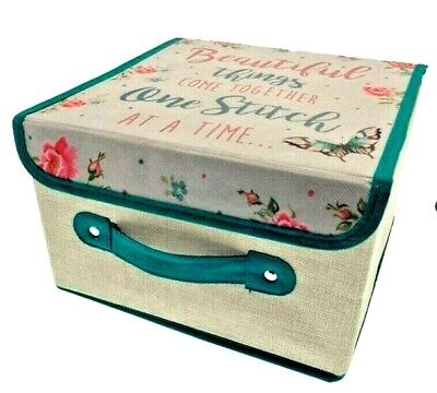 Sewing Box Knitting Wool & Craft Storage Tidy Organiser Case Card Making Present • 9.99£