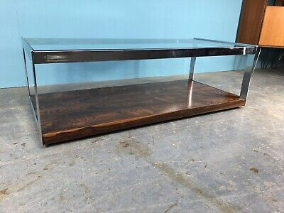 £750 • Buy Merrow Associates Rosewood & Chrome Coffee Table Designed By Richard Young