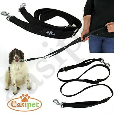 Dog Lead Police Style Leash Multi-Function Double Ended Obedience Training • 5.99£