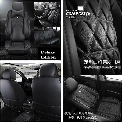 $ CDN187.44 • Buy Full Set 6D Surround Car Seat Cover Cushion PU Leather For Interior Accessories