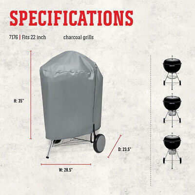 $ CDN22.89 • Buy BBQ Grill Cover Weather Resistant For 22  Weber 7176 Charcoal Kettle