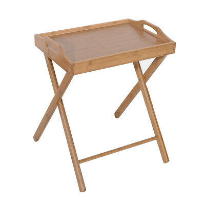 $21.99 • Buy Bamboo Folding Table Breakfast Tray Portable Laptop Desk Small Coffee End Table