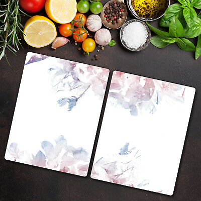 Tempered Glass Worktop Protector Serenity Rose Quartz Floral 2x40x52 • 44.95£