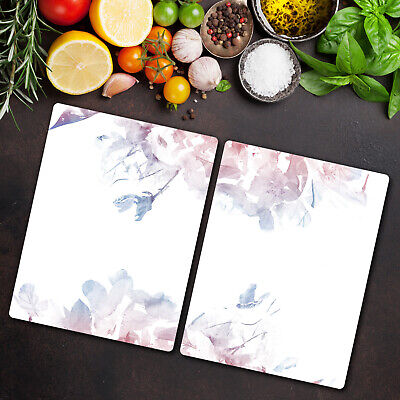 Tempered Glass Worktop Protector Serenity Rose Quartz Floral 2x40x52 • 36.95£