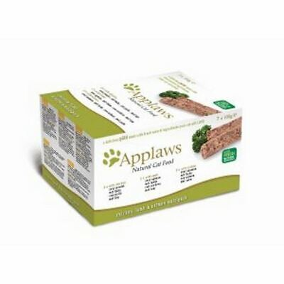 APPLAWS CAT PATE Multi-pack Chicken Lamb Salmon Snack Treat Food Country Fresh • 10.61£