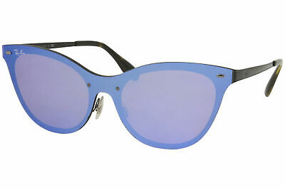 $139.95 • Buy Ray Ban Blaze-Cat-Eye RB3580-N 153/7V Sunglasses Women's Black/Violet Lens 43mm