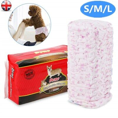 Pet Dog Puppy Disposable Diaper Diapers Pants Nappy Menstrual Sanitary S/M/L UK • 8.99£