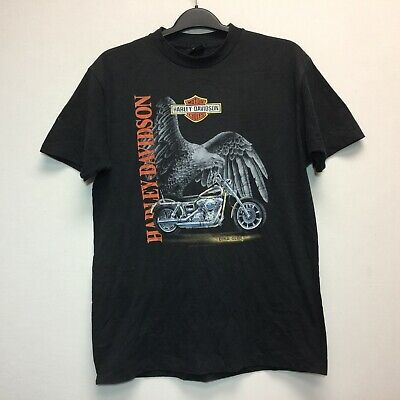 $ CDN150 • Buy Vtg 1991 Harley Davidson 3d Emblem Shirt  Trunzo's TNT Wolfdale Cycle  Sz XL