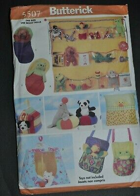 Butterick 5507 Bean Bag Animal Pals Accessories Sewing Pattern • 4£