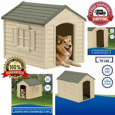 $86.91 • Buy Dog Pet House XXL Outdoor Large All Weather Durable Shelter Kennel Cage Vinyl Do
