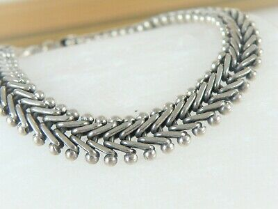 $69.99 • Buy Suarti BA Solid Foxtail Sterling Silver 975 Weave Braided Byzantine Bracelet