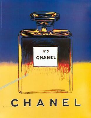 $175 • Buy Chanel N5 Perfume By Andy Warhol Original On Linen 22x29 Inches Yellow/blue