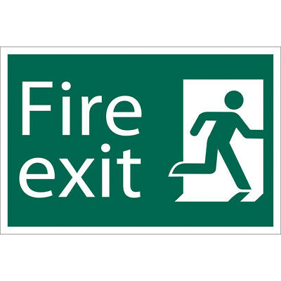 Draper Fire Exit Escape Route Right Self Adhesive Safety Sign Notice • 12.88£