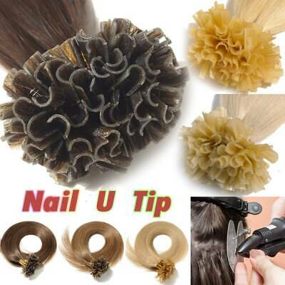$37.82 • Buy Remy Quality Nail U Tip Keratin 100% Remy Human Hair Extensions Brown 200S R197