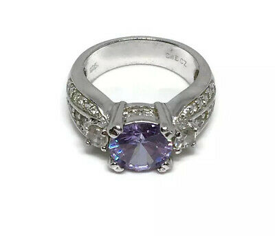 $54.99 • Buy CWE Charles Winston 925 Sterling Silver CZ Amethyst Ring Size 6.75